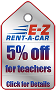 EZ Car Rentals Teachers